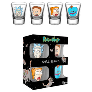 Set 4 vasos de chupito Rick y Morty