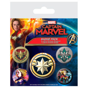 Set de chapas Capitana Marvel
