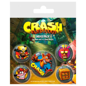 Set de chapas Crash Bandicoot